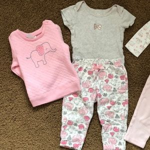 Carter's Matching Sets - Baby girl elephant outfits